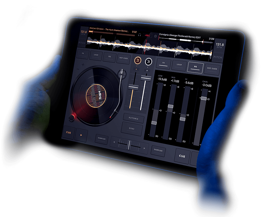 edjing interface on iPad