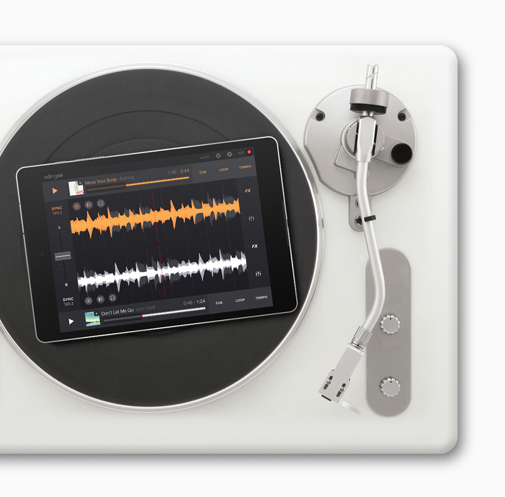 vinyl turntable edjing pro mobile view